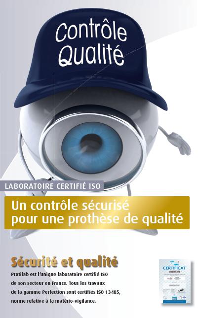 Protilab laboratoire certifié ISO 9001 et 13485